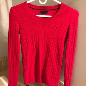 Pink knit Tommy sweater